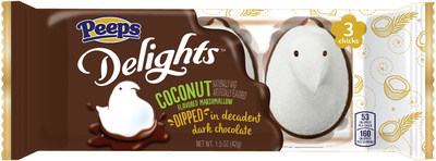 PEEPS Delights Coconut Flavored Marshmallow Dipped in Dark Chocolate