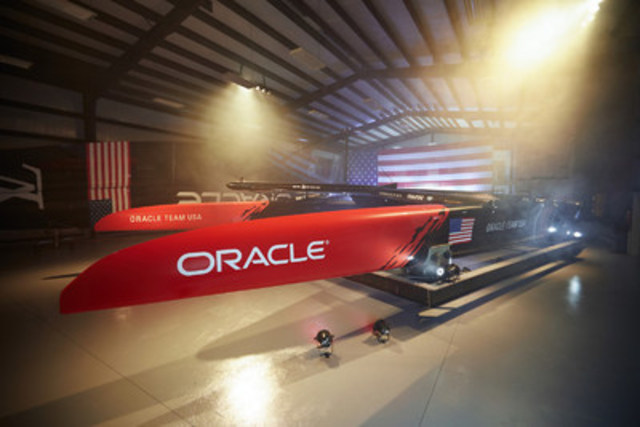 4iiii Innovations will be aboard ORACLE TEAM USA's hydro-foiling catamaran providing PRECISION powermeter technology when the sleek carbon fiber vessel takes to the waters off Bermuda in the summer of 2017. Photo credit: Peter Hurley Photography (CNW Group/4iiii Innovations Inc.)