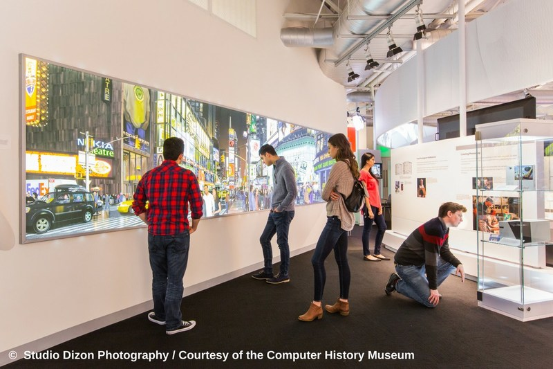 "Bert Monroy's ""Times Square,"" printed on the Epson SureColor P20000 64-inch printer, is on display at Computer History Museum's ""Make Software: Change the World!"" Exhibition."