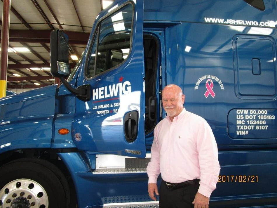 J.S. Helwig and Son Owner and CEO James Helwig notes that the fleet's adoption of the SmartDrive system is one of the ways management demonstrates its commitment to the safety of employees and dedication to exonerating them when they're not at fault in a collision.