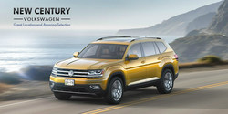 Drivers in the market for a versatile full-size SUV can soon save on the 2018 Atlas with New Century Volkswagen.
