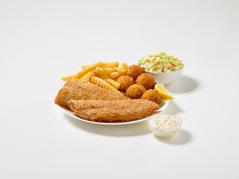 A Family Fish Fry meal will also be available, featuring eight Crispy Fish Filets, Large Fries, and 20 Hush Puppy Biscuit Bites(R). Prices and availability vary by location.