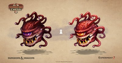 Beholder rook concept art from Dungeon Chess, developed by Experiment 7 in partnership with Dungeons & Dragons, from Wizards of the Coast, for Oculus Rift and Samsung Gear VR.