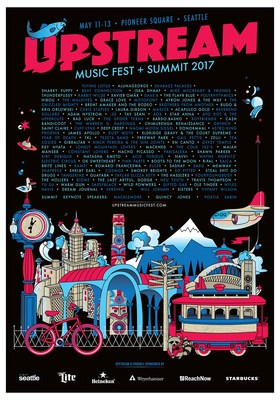 Inaugural Upstream Music Fest + Summit Announces First Round of Lineup: New Seattle festival will feature a diverse group of emerging talent from the Pacific Northwest and main stage artists, Flying Lotus, AlunaGeorge, Shabazz Palaces, Snarky Puppy and Beat Connection. For more information about the festival, please visit www.UpstreamMusicFest.com.