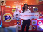 Drashti Dhami poses with #CollarUpwithTide to launch the New and Improved Tide Plus (PRNewsFoto/Procter & Gamble)