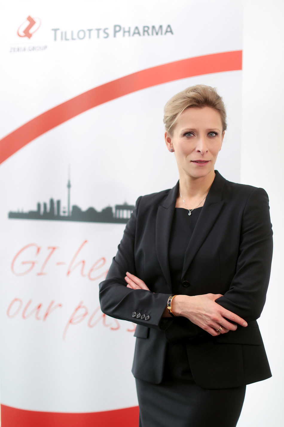Dedicated to GI health: Magdalena Kritikos, General Manager of Tillotts Pharma GmbH in Berlin. Source: Tillotts Pharma GmbH (PRNewsFoto/Tillotts Pharma AG)