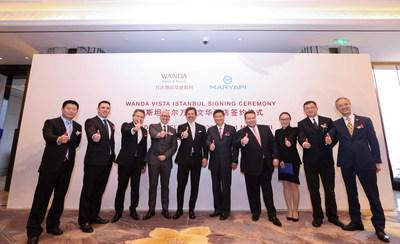 Wanda Vista Istanbul Signing Ceremony group photo (management team of Wanda Hotels & Resorts, and Mar Yapi)