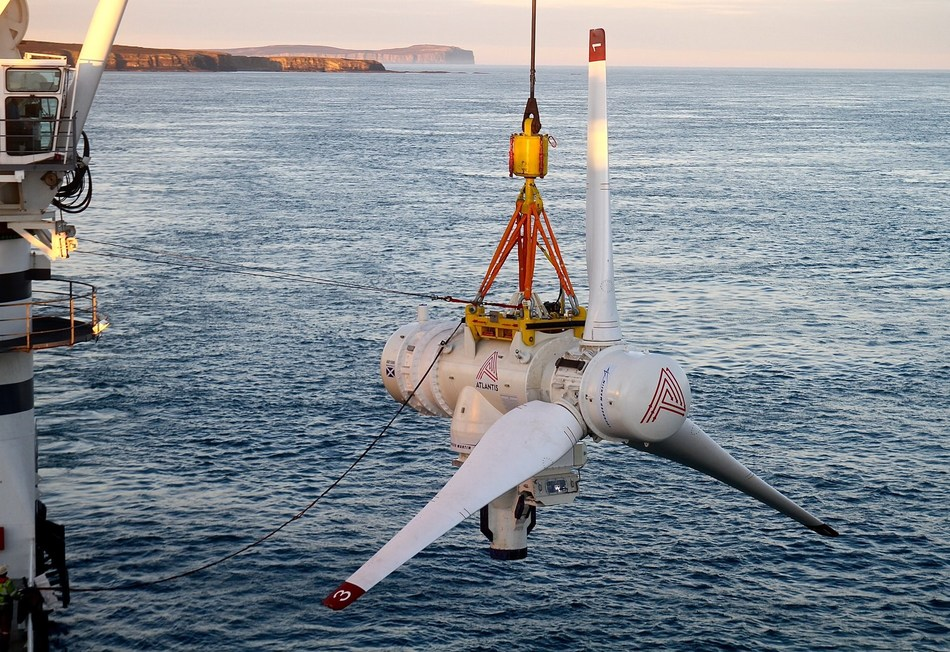 Atlantis Resources has deployed the first AR1500 tidal energy turbine with new Lockheed Martin technology off the coast of Scotland. The installation, part of the MeyGen project, is designed to to provide clean, sustainable power for up to 175,000 homes.