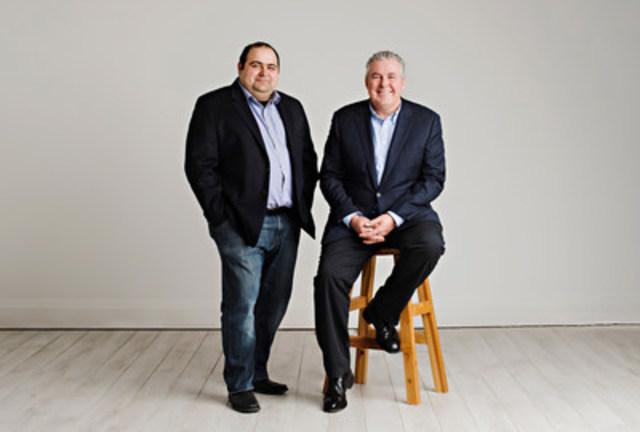 Dejero's Founder, Bogdan Frusina with new CEO, Bruce Anderson (CNW Group/Dejero)