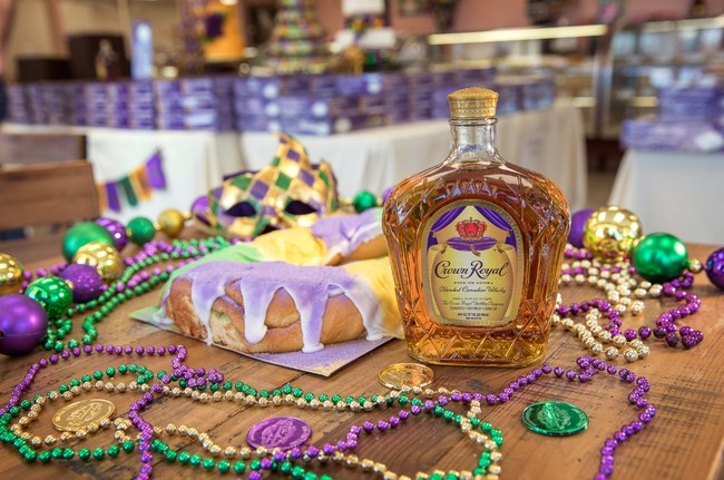 """Crown Royal is encouraging Mardi Gras revelers in New Orleans to """"Live Generously"""" by donating their beads for King Cakes and for charity."""