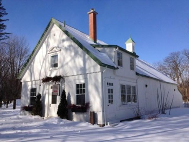 La cabane de L'Affaire est Ketchup sera de retour dans la jolie maison du fermier du parc du Bois-de-Coulonge dès ce samedi, 25 février. (Groupe CNW/Commission de la capitale nationale du Québec (CCNQ))