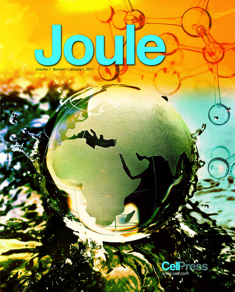 Cover of Joule (PRNewsFoto/Elsevier)