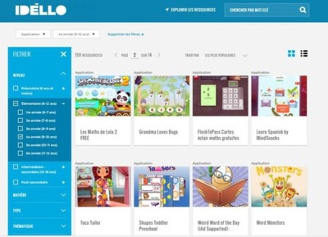 IDÉLLO, an idea of Groupe Média TFO (CNW Group/Groupe Média TFO)