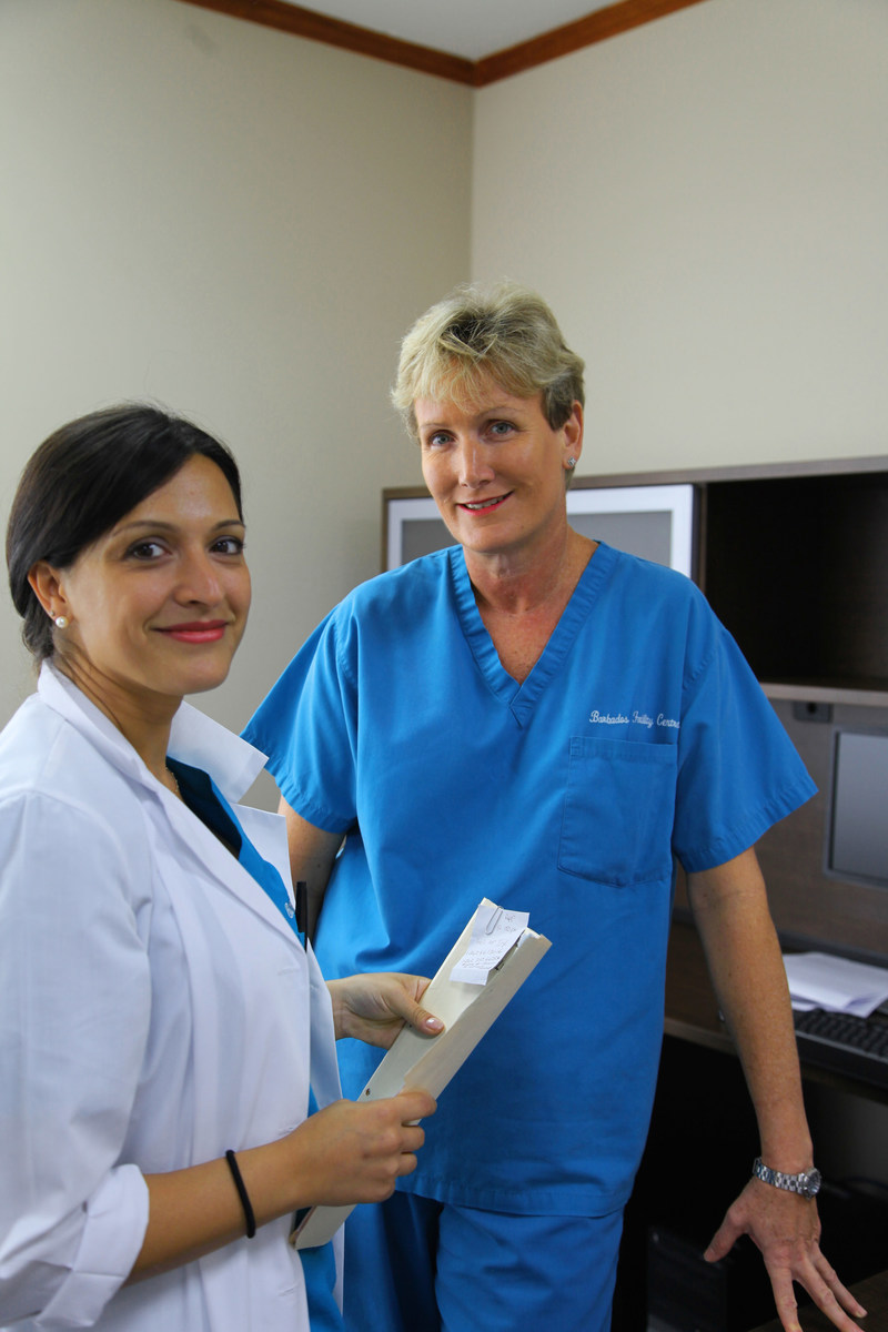 Dr. Roberta Corona IVF Physician and Dr. Juliet Skinner, Medical Director at Barbados Fertility Centre