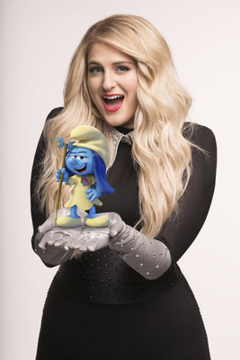 """Grammy(r) Award-winning superstar Meghan Trainor will perform the new song """"I'm a Lady"""" and voice the character SmurfMelody in Sony Pictures Animation's new film Smurfs: The Lost Village."""