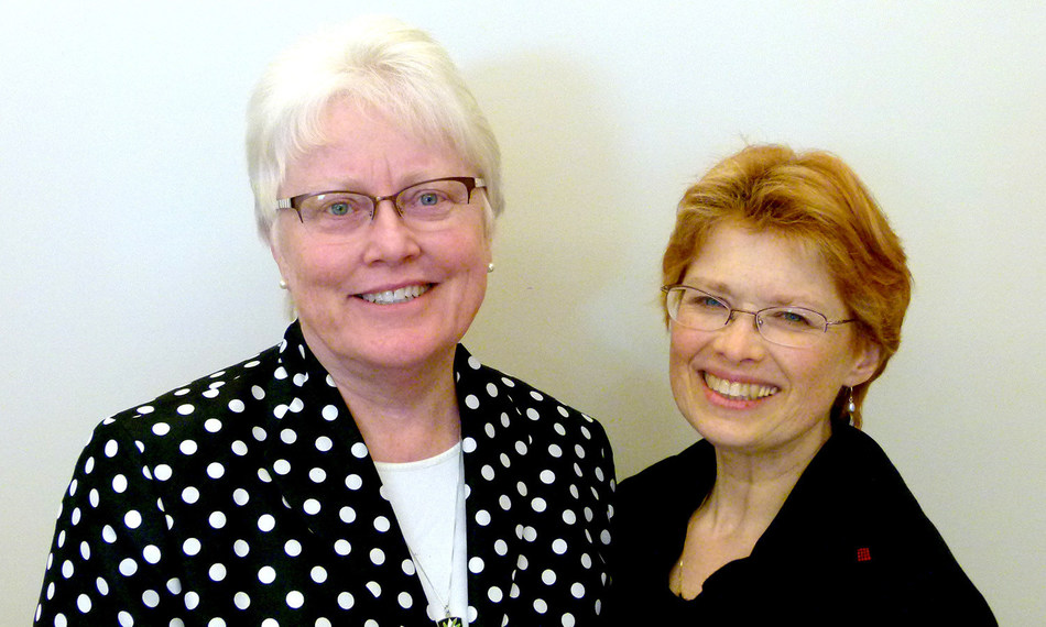 Ellen Coates, Candidate to the Dominican Sisters of Peace (right) with Sister Patricia Twohill, Prioress.