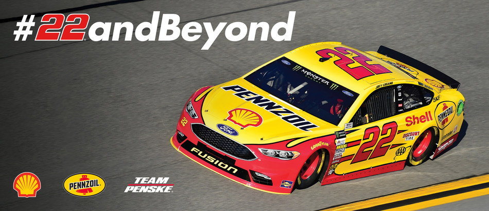 Team Penske's No. 22 Shell-Pennzoil Ford Fusion driven by Joey Logano