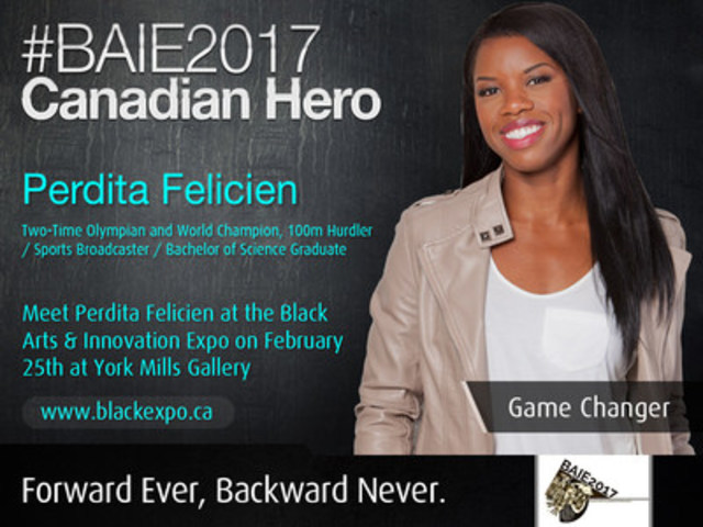 Perdita Felicien will be at #BAIE2017 - blackexpo.ca (CNW Group/Excelovate)