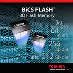 Toshiba Now Shipping Samples of 64-Layer, 512Gb 3D Flash Memory