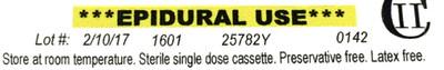 "Example of original label with ""latex free"" language"