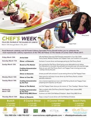 Villa del Palmar at the Islands of Loreto hosts Celebrity Chef Week March 10 - 16.