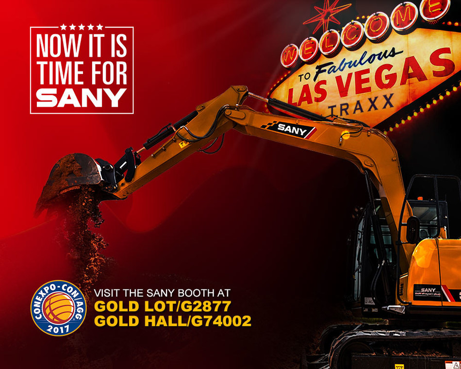 SANY Unveils New Machines Designed for the North American Market at CONEXPO-CON/AGG 2017