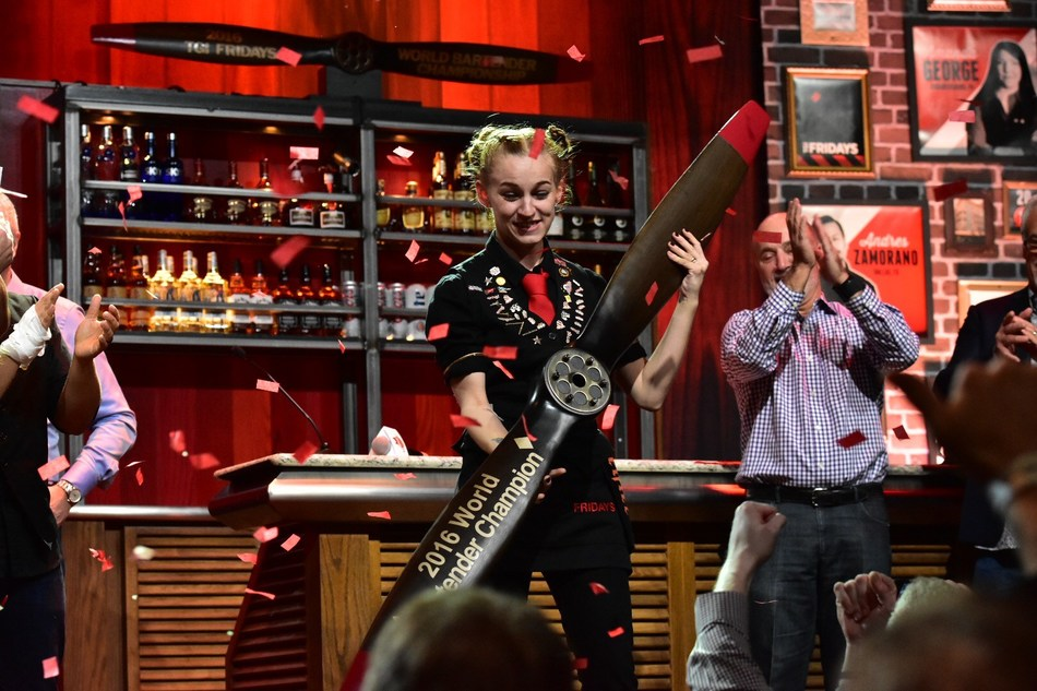 TGI Fridays 2016 World Bartender Champion Lauren Flintham from Limassol, Cyprus