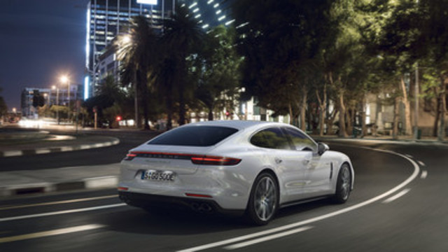 The 2018 Porsche Panamera Turbo S E-Hybrid is capable of accelerating from zero to 100 km/h in 3.4 seconds and reaching a top speed of 310 km/h. (CNW Group/Porsche Cars Canada)
