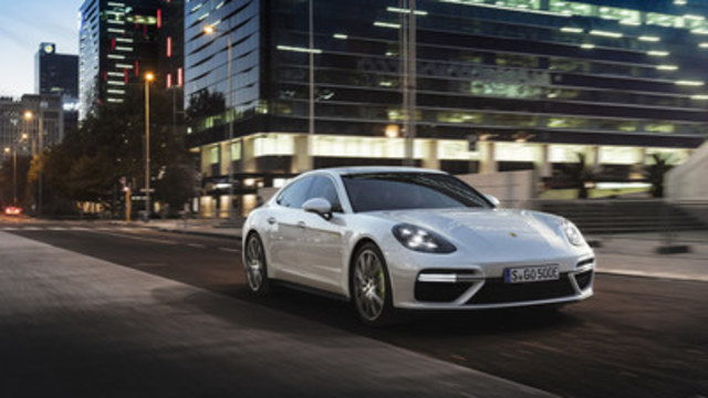 The new 2018 Panamera Turbo S E-Hybrid will be the first time that a flagship of a Porsche model line is a plug-in hybrid model. (CNW Group/Porsche Cars Canada)