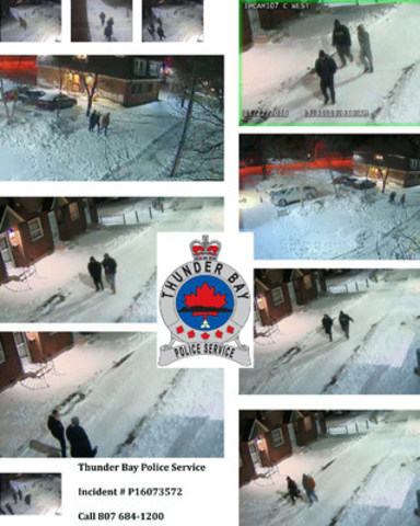 Limbrick Street Complex Nov 22 2016.  Do you know these people? (CNW Group/Thunder Bay Police Service)