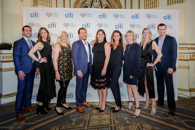 Adults in Toyland co-chairs Robert Perretta, Adi Beltzman, Kate Goodman, Steven Stein, Harlan Fabrikant Saroken, Kelly Kennedy Mack, Susan Block Casdin, Kimberly Goodwin, and Michael Weaver