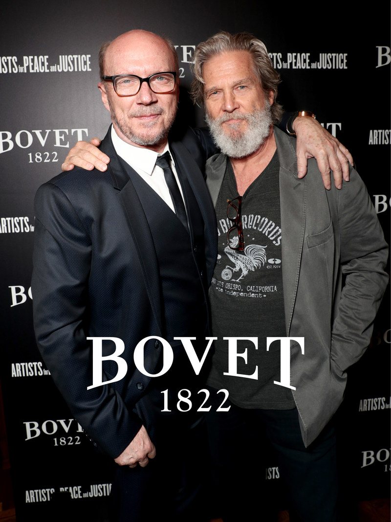 APJ founder and Academy Award(R) winning filmmaker Paul Haggis with Jeff Bridges