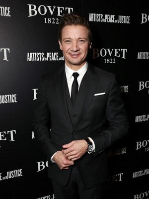 Jeremy Renner, wearing the BOVET Recital 17 timepiece