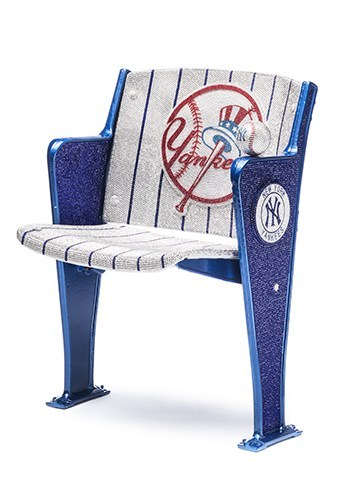 CITY SEAT: Jonathan Stein's Swarovski Crystal Yankees Chair