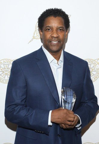Denzel Washington receives the Motion Picture Showman of the Year Award from the ICG Publicists Awards at the Beverly Hilton Hotel