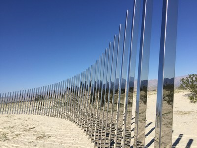 The Circle of Land and Sky by Phillip K. Smith III is one of 16 site-specific installations featured in Desert X. The exhibition runs February 25-April 30, 2017.