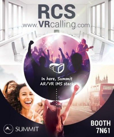 RCS Virtual Reality and Augmented Reality Calling supporting Video, Voice and Chat by Summit Tech (CNW Group/Summit Tech)
