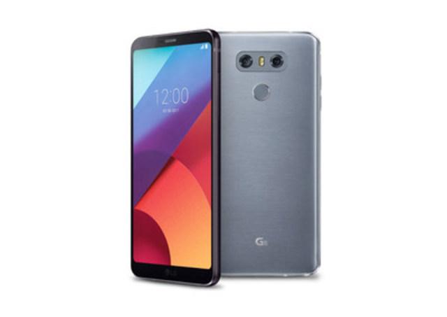 Fait d''aluminium et de verre, et offert en platine et noir, le LG G6 dispose d''une conception minimaliste élégante, arrondie et parfaitement lisse au toucher. (Groupe CNW/LG Electronics Canada)