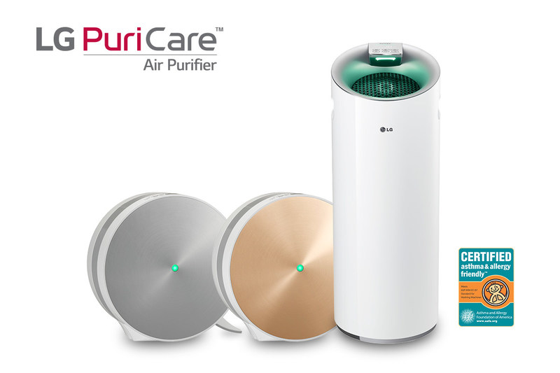 LG PuriCare air purifiers earn asthma & allergy friendly certification in time for springtime sneezing