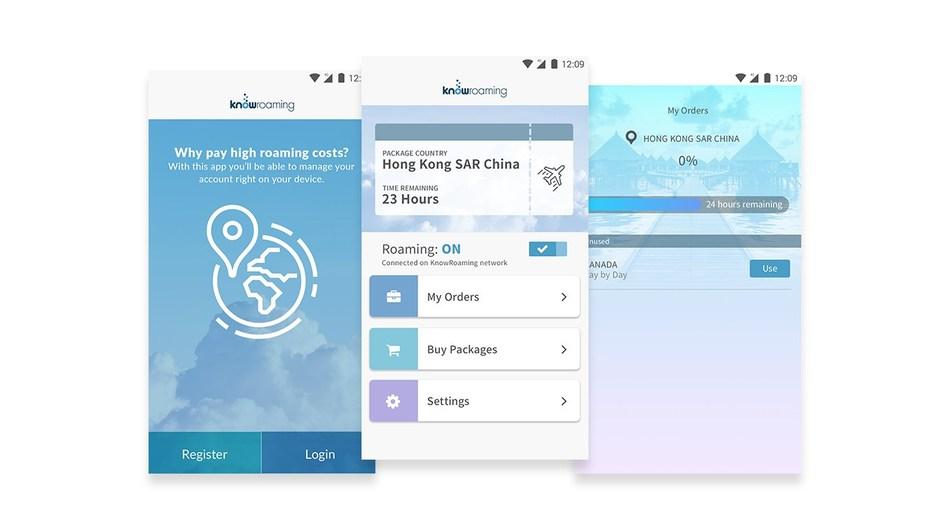 KnowRoaming SoftSIM companion app, Roam Now! (PRNewsFoto/KnowRoaming)