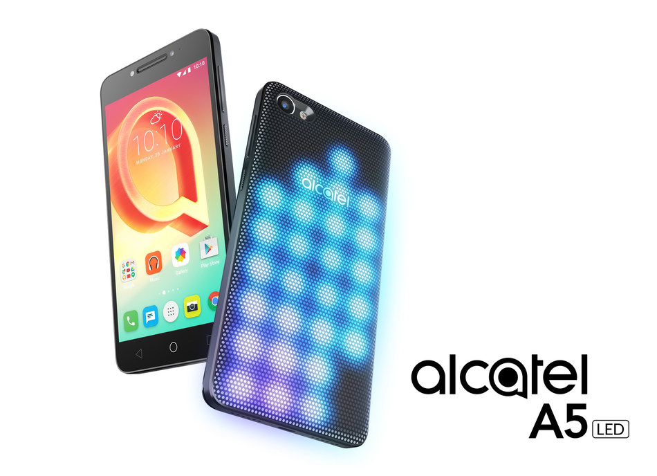 Alcatel A5 LED (PRNewsFoto/Alcatel)