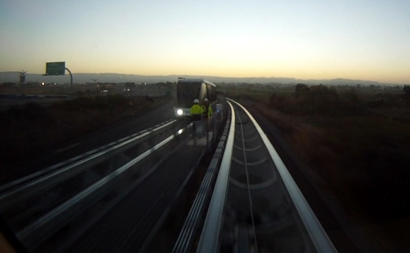BART personnel were located at various points along the rail line to test the performance of the patented EMTRAC notification system.