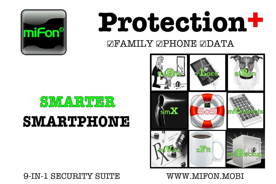 miFon makes Smartphones Smarter, Safer & Unlosable (PRNewsFoto/miFon)
