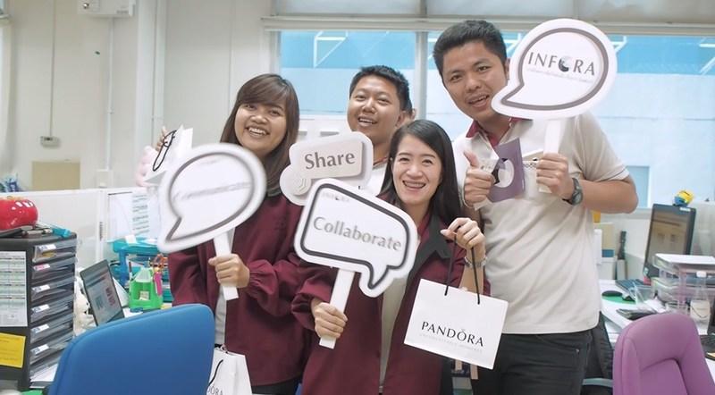 PANDORA intranet go-live in Thailand (PRNewsFoto/BrightStarr)