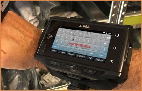 StayLinked Smart Keyboard on a Zebra WT6000