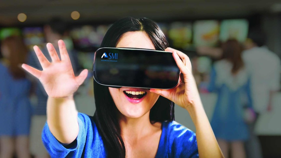 SMI's eye tracking Samsung Gear VR running an ARM(R)-based mobile virtual reality (VR) platform at GDC 2017 (PRNewsFoto/SensoMotoric Instruments GmbH (S)