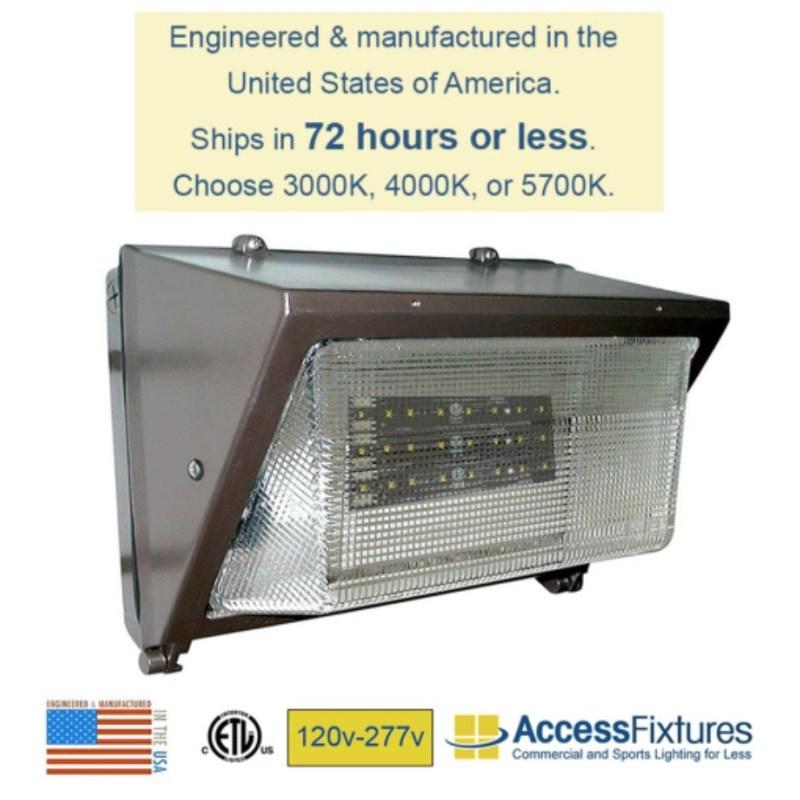 STAT 40w LED Outdoor Wall Pack 120v-277v