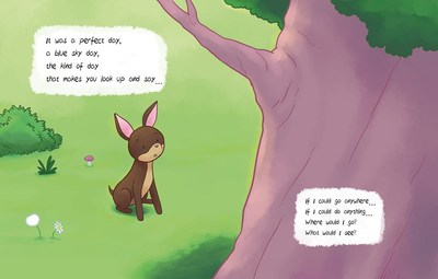 A little dog daydreams about all the things she could do and see if she could climb trees.