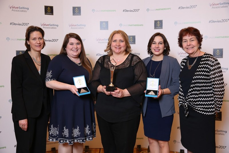Congratulations to Runzheimer's Customer Care Team! Winners of Customer Service Department of the Year and Contact Center of the Year. Representing the team are (pictured from left to right): Heidi Skatrud, Charity Carson, Ann Rasmusson, Laura Weiler and Meg Wettengal.