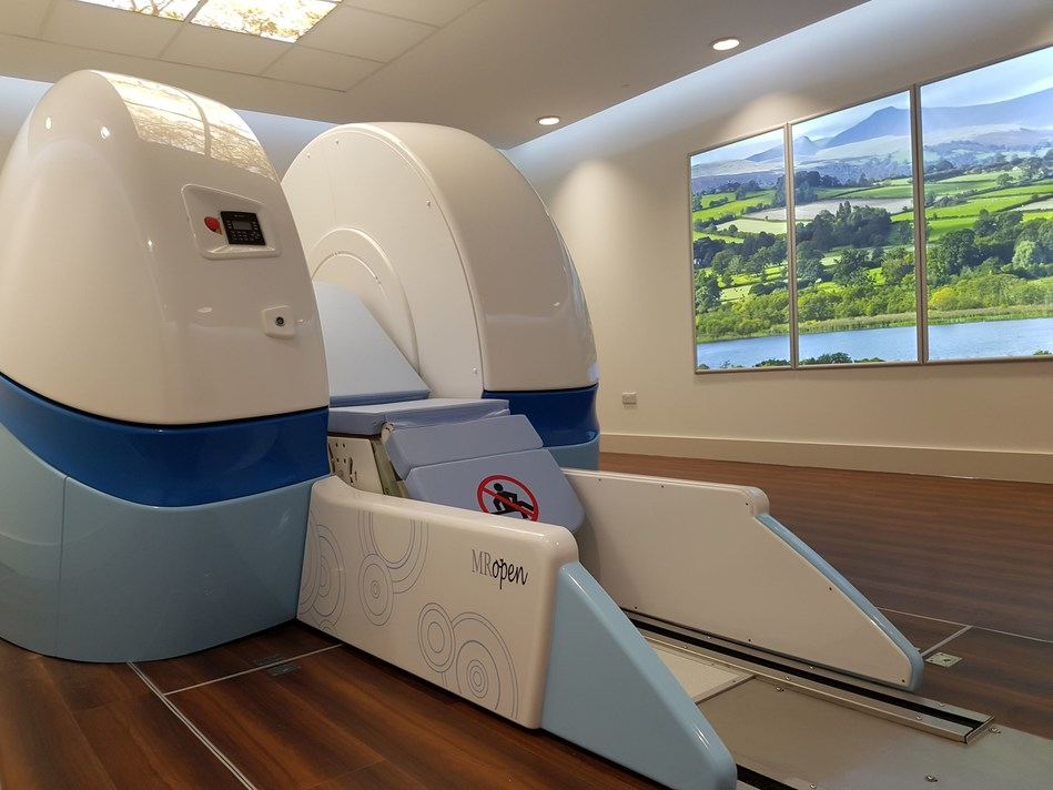 The open MRI scanner - MROpen engineered and developed by Paramed in the ESC Cardiff Centre. (PRNewsFoto/Paramed Medical Systems)